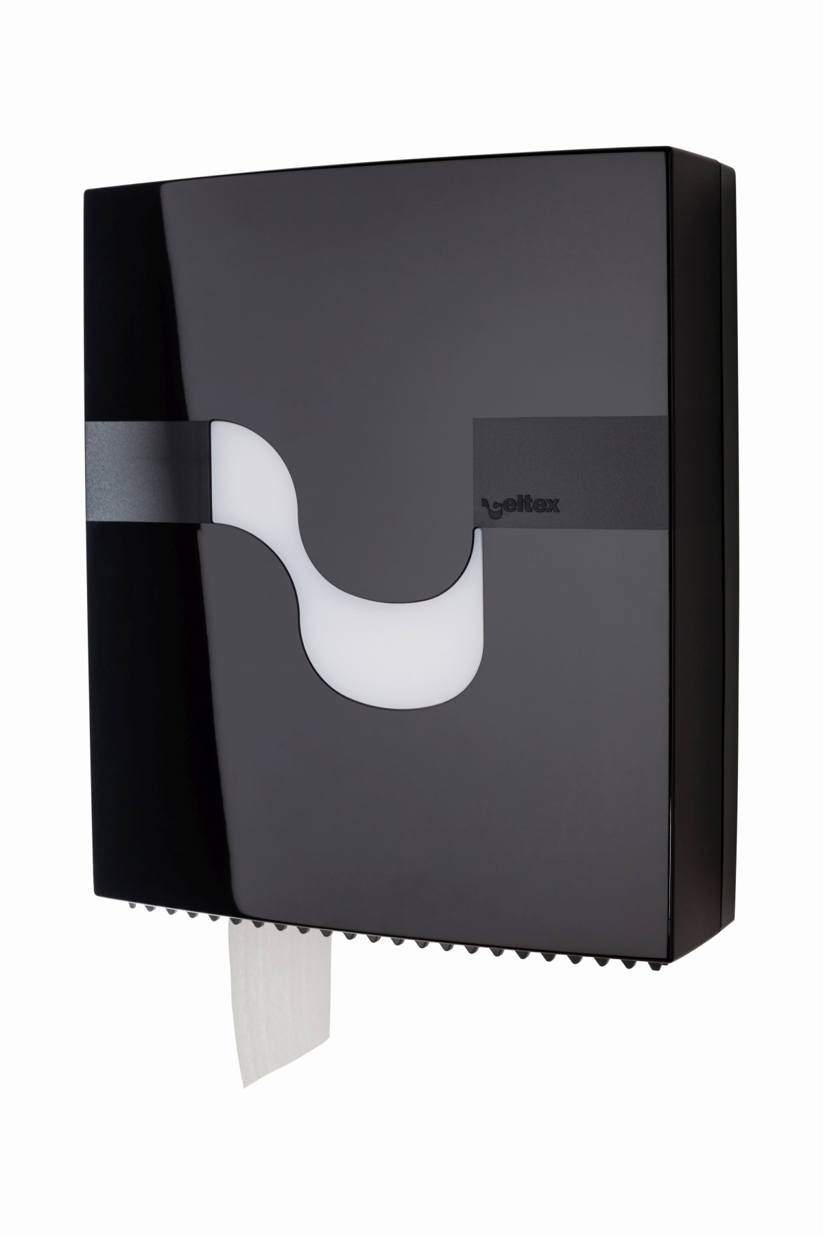 Toilettenpapierspender Jumbo schwarz