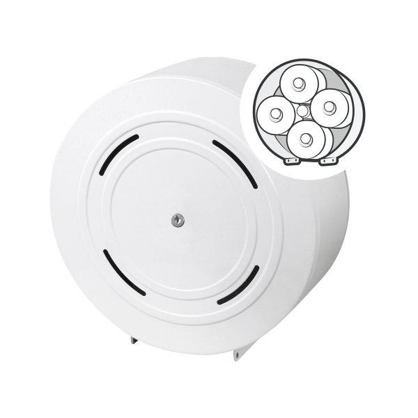 Toilettenpapierspender Quattro Metall weiß