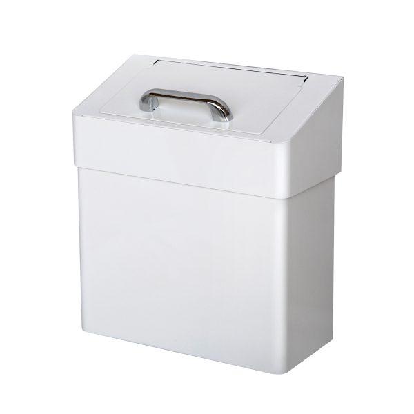 Abfallbehälter Damenhygiene Metall weiß