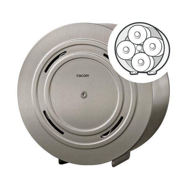 Toilettenpapierspender Quattro Edelstahl anti-fingerprint