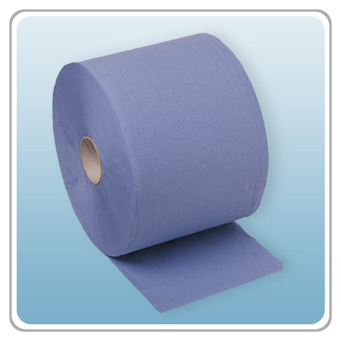 Putzpapierrolle blau 38 cm