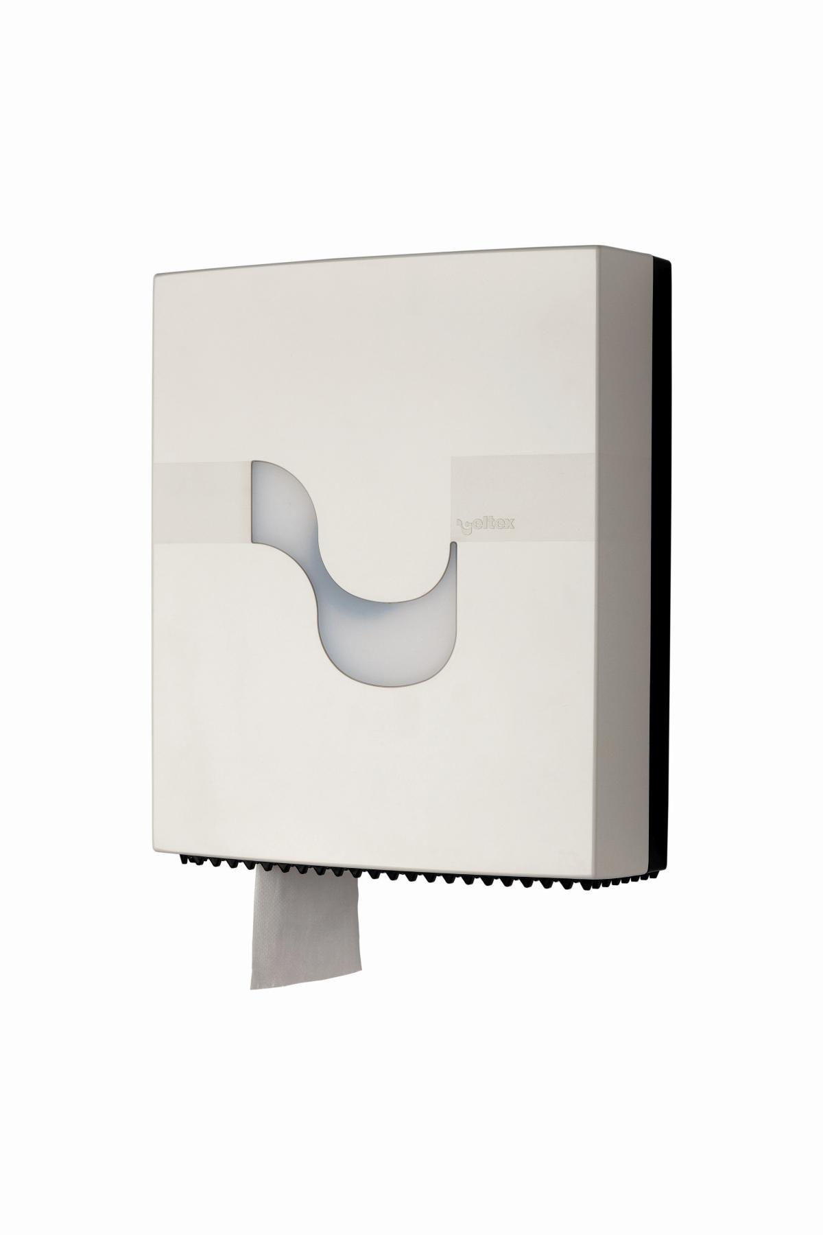 Toilettenpapierspender Jumbo weiß